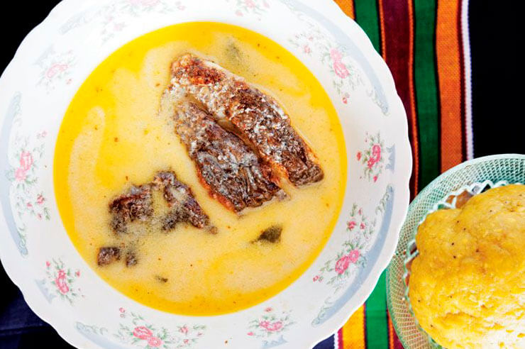 Hudutu (Fish and Coconut Stew with Mashed Plantains) Saveur Magazine